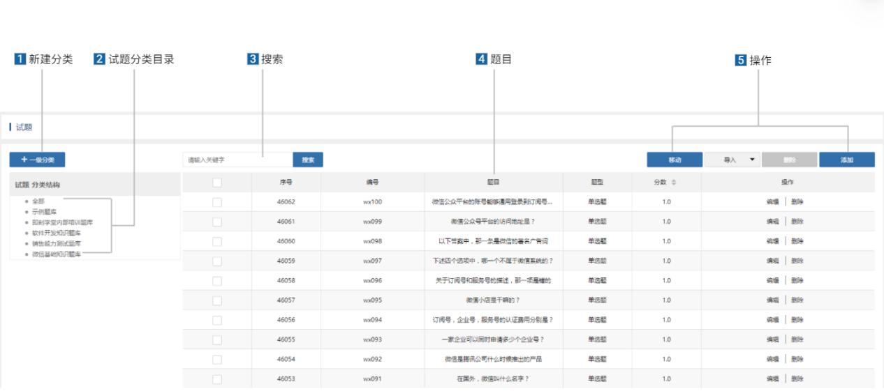 企业内部培训管理系统_试题功能介绍_即刻学堂
